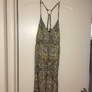 Black and yellow patterned summer dress, size XL